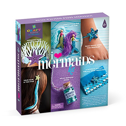 Craft-tastic I Love Mermaids Kit - Craft Kit Makes 6 Different Mermaid Themed Craft Projects
